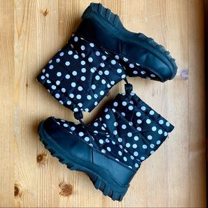 [thinsulate] polka dot snow boots sz 13